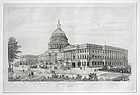Newly Re-Discovered  Print of the Capitol at Washington in 1892