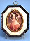 Late Regency Miniature Portrait of a Young Woman