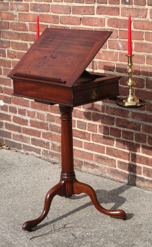 Rare George II Adjustable Height Writing Stand