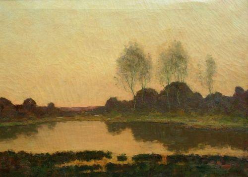 Marsh Landscape by Max Weyl (American, 1837-1914