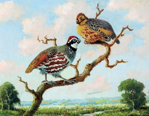 Two Quail by Benson Bond Moore (American 1882-1974)