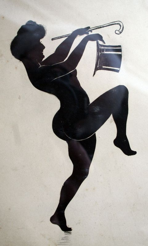 Cut Sihoulette of Dancing Man and Woman by Charles Handrup