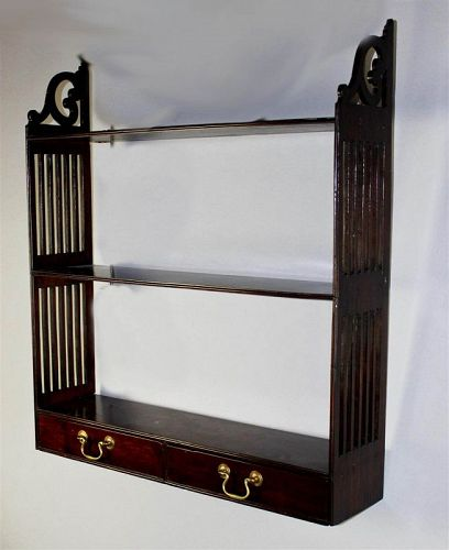 George III Hanging Wall Shelf