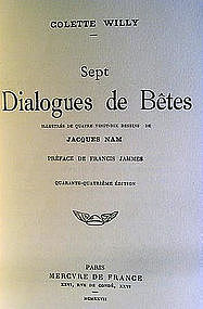 A Signed Book by Colette