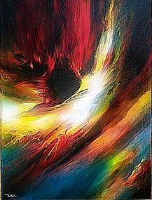 Abstract Painting by Leonardo Nierman