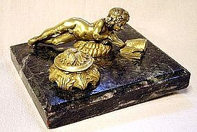 Charming Antique French Inkwell