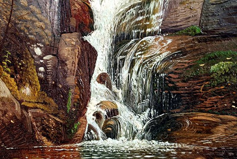 Artists Falls, New Hampshire by Henry Arthur Elkins