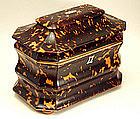 English Tortoiseshell Tea Caddy