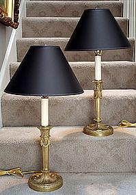 Antique French Louis XVI-Style Ormolu Lamps