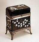 Metal Mounted Black Glass Dresser Box