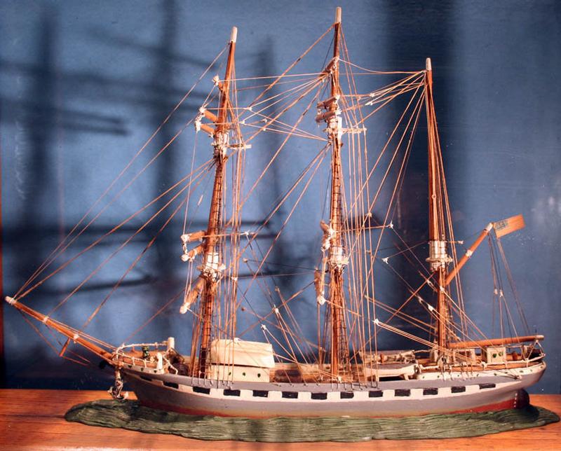 Antique Handmade American Ship Model