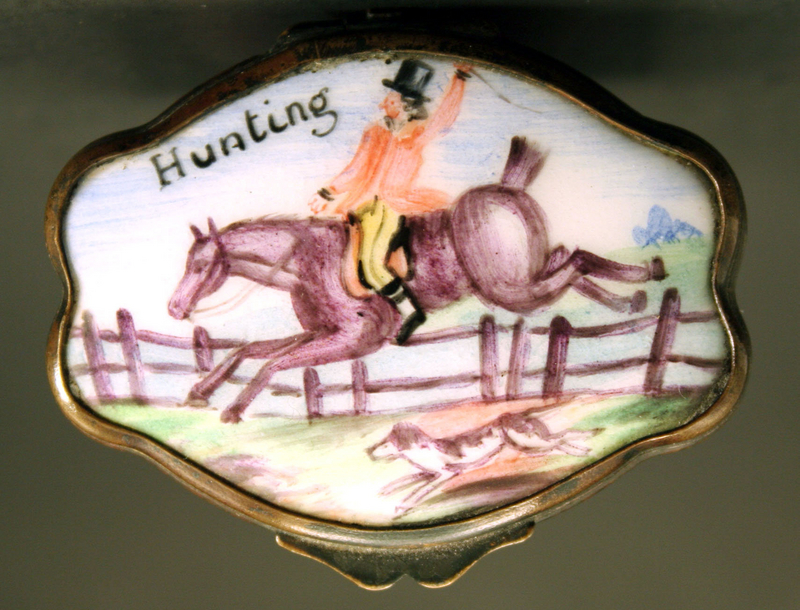 "French 19th-century Enamel ""Hunting"" Box"