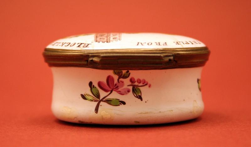 "18th-century Enamel Box, ""A Trifle from Blockley"""
