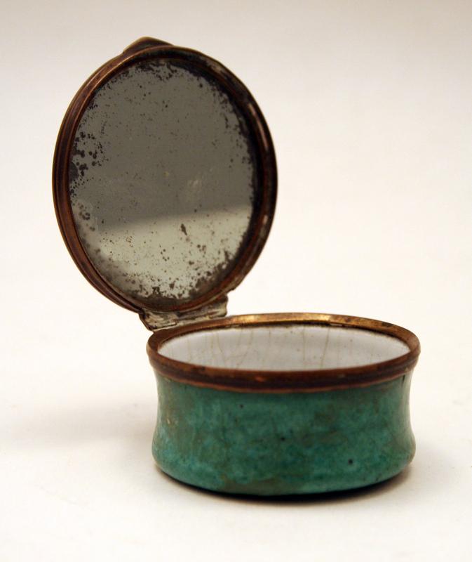 18th-century English Enamel Patch Box