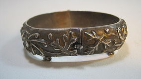 Late 19th / 20th C. Chinese Silver Bangle Marked