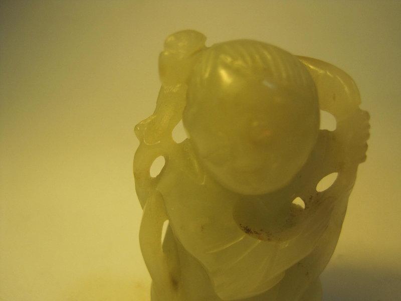 18th/19th C. Chinese Nephrite Jade Boy Figure