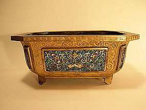 A 19th C Chinese Cloisonne Enamel Jardiniere