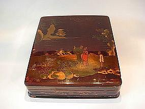 Antique Japanese Lacquer Suzuri Bako (Writing Box)