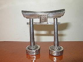 19/20th C. Japanese Sterling Silver Salt Shaker