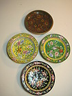 A Group of 19th C. Chinese Cloissonne Enamel Plates
