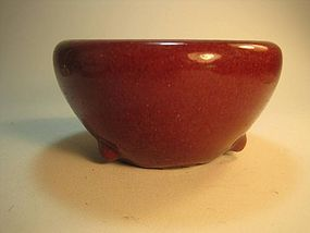 A Early 19th C. Chinese Ox Blood Red incense burner