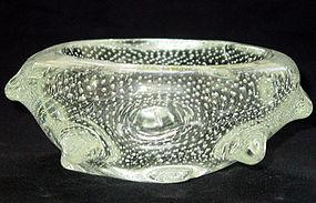 Murano FLAVIO POLI SEGUSO 40s Spikes Bubbles Bowl