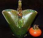 RARE Murano SEGUSO POLI Double FISH Gold Oxides Vase