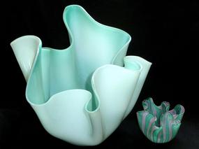 RARE Murano BIANCONI VENINI Blue Fully SIGNED Vase