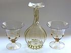 RARE Murano PAULY VENEZIA Signed Twisted Vase + 2 Vases