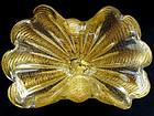 Murano BAROVIER TOSO Cordonato D' Oro Flower Shape Bowl