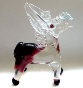 FRATELLI TOSO Murano DONKEY Sommerso Purple Sculpture