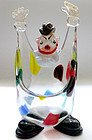 BARBINI Murano CLOWN GOLD FLECKS Color Squares Figure
