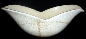 BAROVIER Murano GOLD FLECKS Lattimo Texture Winged Bowl