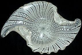 FRATELLI TOSO Murano ZANFIRICO Ribbons Centerpiece Bowl