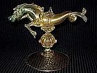RARE Venetian SALVIATI 1890's Gold Flecks SEA HORSE
