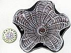 RARE Murano BAROVIER Black Spider Web Centerpiece Bowl