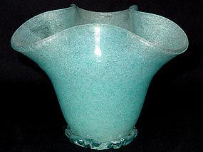 Murano MARTENS Blue PULEGOSO Iridescent Vase