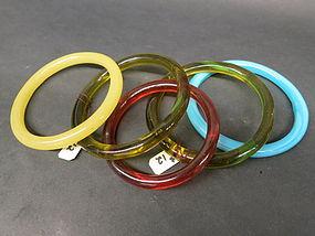 5 Peking glass bangles