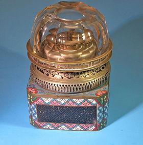 Antique Chinese enamel opium lamp