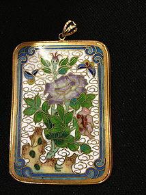 Chinese cloisonne enameled pendant