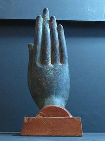 Rare and Large Thai Ayutthaya Bronze Buddha Hand