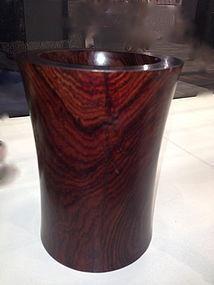 Huanghua Li wood Brush Pot holder