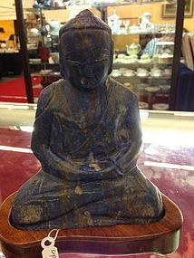 Antique Chinese carving of Lapis Lazuli Buddha