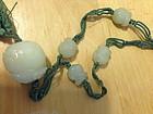 Chinese white jade nephrite beaded necklace