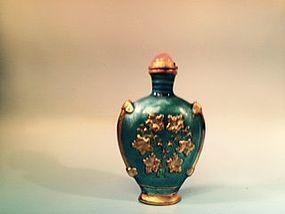 Chinese cloisonné enamel snuff bottle