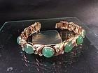 Gold diamond jadeite bracelet