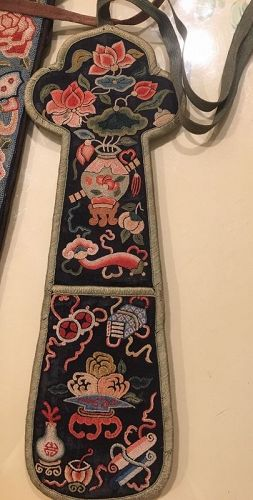 Chinese antique fan holder