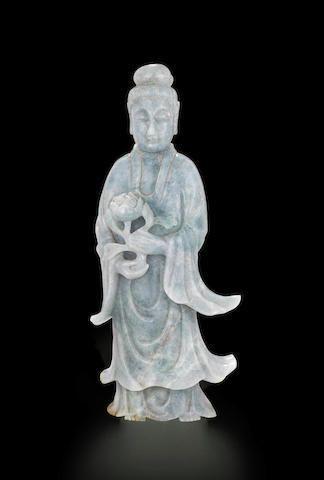 A jadeite figure of a beauty