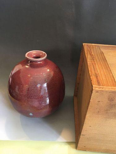 Antique ox blood vase jar