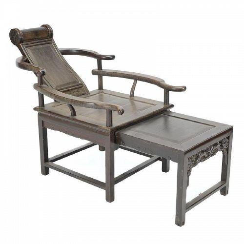 Chinese Jichimu Reclining Chair